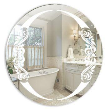 Зеркало MIXLINE Санторини D 650 мм пескоструйный рисунок