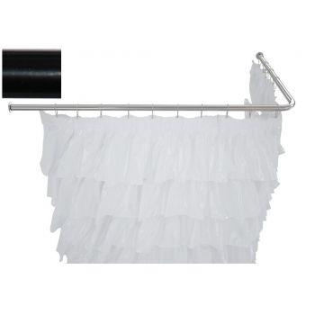Карниз для ванны Aquanet угловой Г-образный 130x70 черный