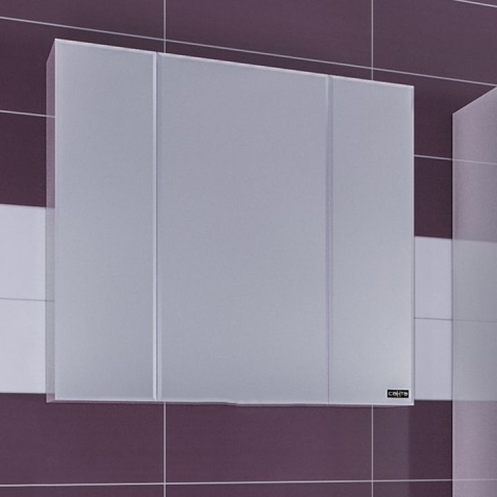 Зеркало-шкаф СанТа Стандарт 90 фацет