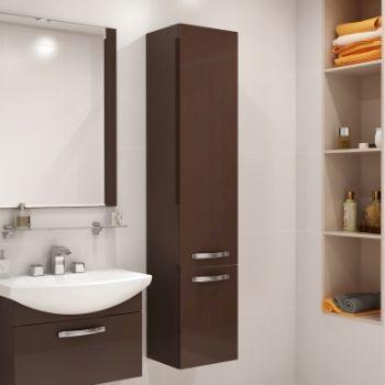 Шкаф-пенал AQUATON Ария темно-коричневый …