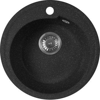 Мойка кухонная AquaGranitEx M-45 черная