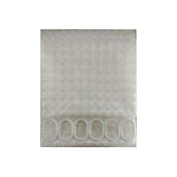 F8754 Шторка для ванны 3D прозрачный/Peva/полиэтилен 180см*200см