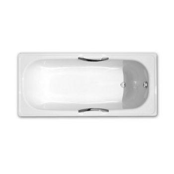 Ванна стальная DeLux 160x71 с отверстиями для ручек, без ножек