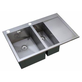 Мойка кухонная Zorg Inox X X-5178-2-L