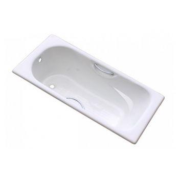 Ванна чугунная Goldman, 170х75 с отверстиями для рук, без ножек