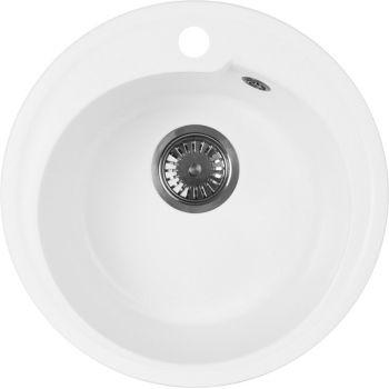 Мойка кухонная AquaGranitEx M-45 белая