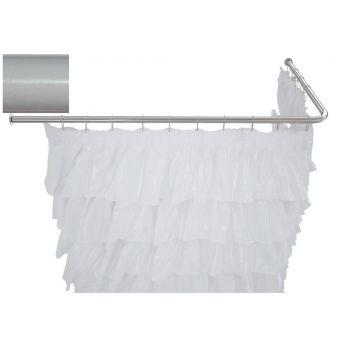 Карниз для ванны Aquanet угловой Г-образный 130x70 белый