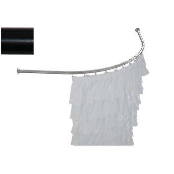 Карниз для ванны Aquanet Capri полукруглый 160x100 черный
