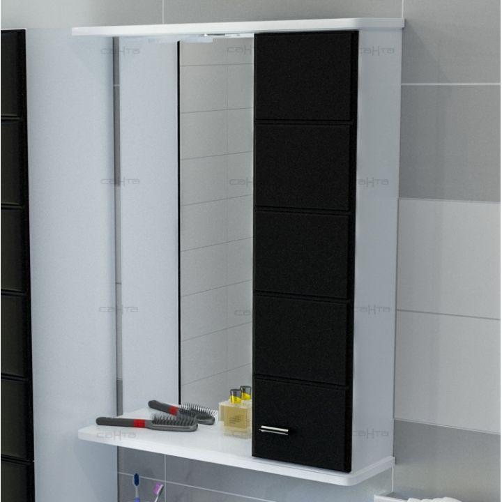 Зеркало-шкаф СанТа Омега 60 R черное