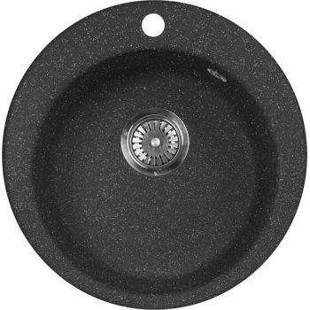 Мойка кухонная AquaGranitEx M-05 черная