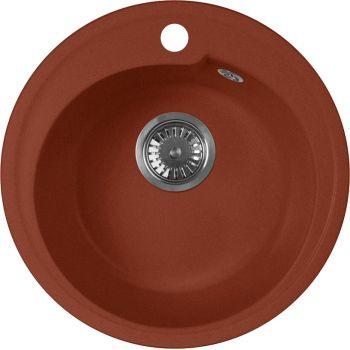 Мойка кухонная AquaGranitEx M-45 красный марс