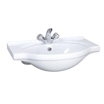 """Умывальник Santeri """"Сатурн"""" 60 см мебельный белый с/о, 131211S0011B0"""