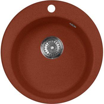 Мойка кухонная AquaGranitEx M-05 красный марс