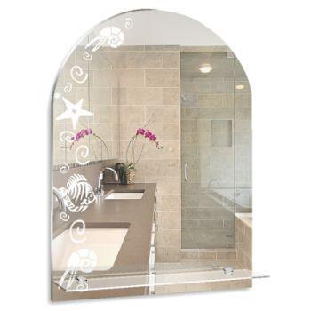 Зеркало MIXLINE Мадейра 495*670ШВ пескоструйный рисунок