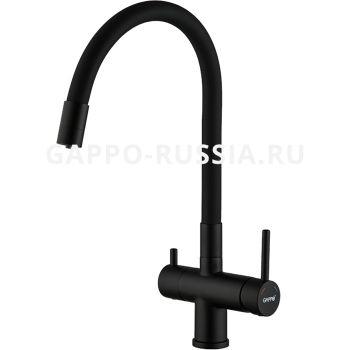 Смеситель для кухни с гибким изливом Gappo G4398-36