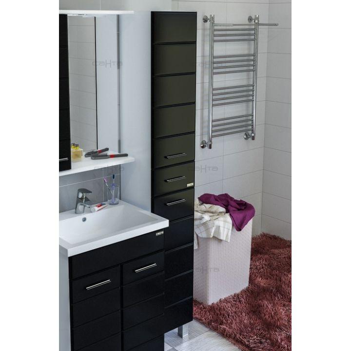 Шкаф-пенал СанТа Омега 30 R напольный черный