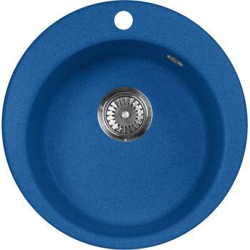 Мойка кухонная AquaGranitEx M-05 синяя