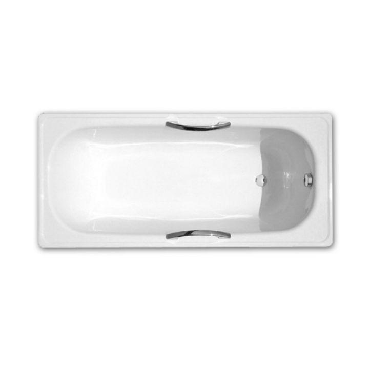 Ванна стальная DeLux 150x71 с отверстиями для ручек, без ножек